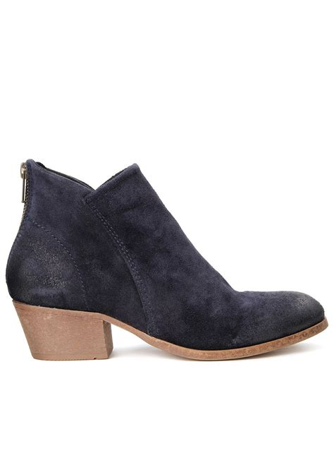 hudson apisi suede ankle boots navy