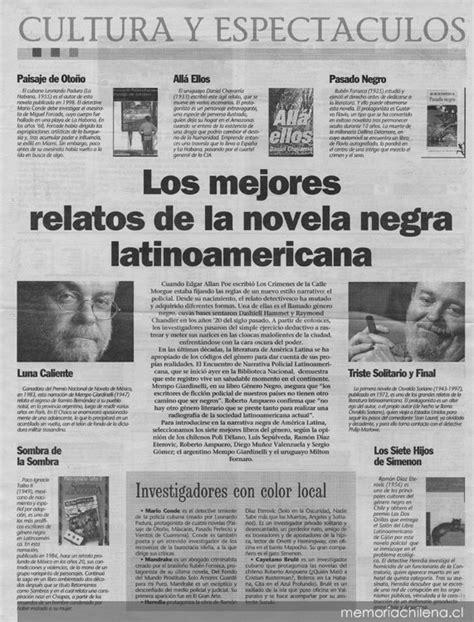 los mejores relatos de 8420449946 los mejores relatos de la novela negra latinoamericana memoria chilena biblioteca nacional de