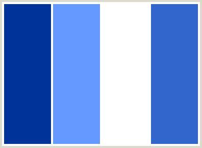 white blue color scheme colorcombo23 with hex colors 003399 6699ff ffffff 3366cc