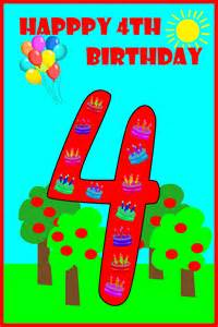 4th Birthday Card Happy 4th Birthday To My Birthday Party Ideas For Kids