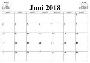 Kalender 2018 Juni Design