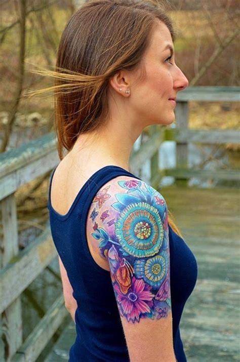 girl tattoo sleeve 40 cool and pretty sleeve designs for