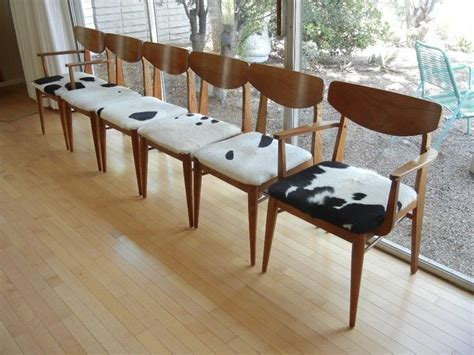 modern cowhide dining chairs set of six 6 mid century modern dining chairs cowhide