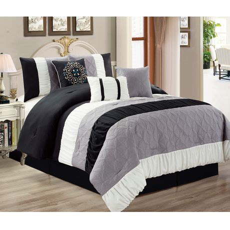 comforter sets walmart canada safdie co home deluxe collection black 100 polyester
