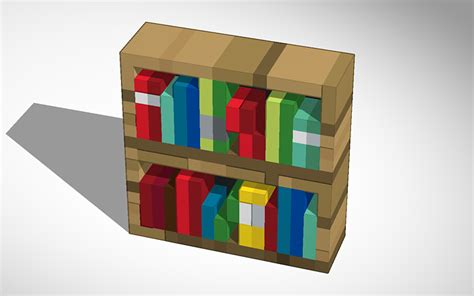 3d design minecraft bookshelf tinkercad