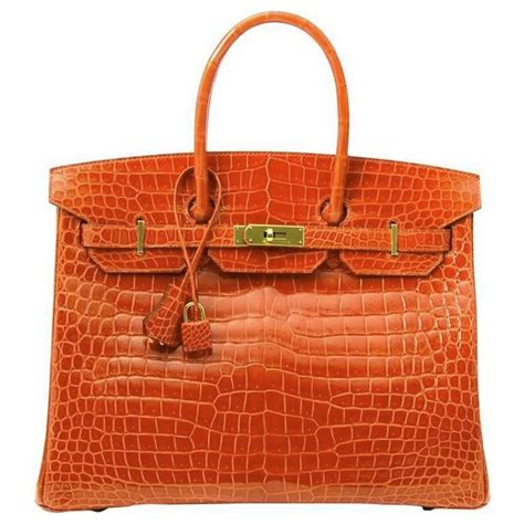 Hermers Swagger Croco Limited hermes poppy orange crocodile birkin 35 for sale at 1stdibs