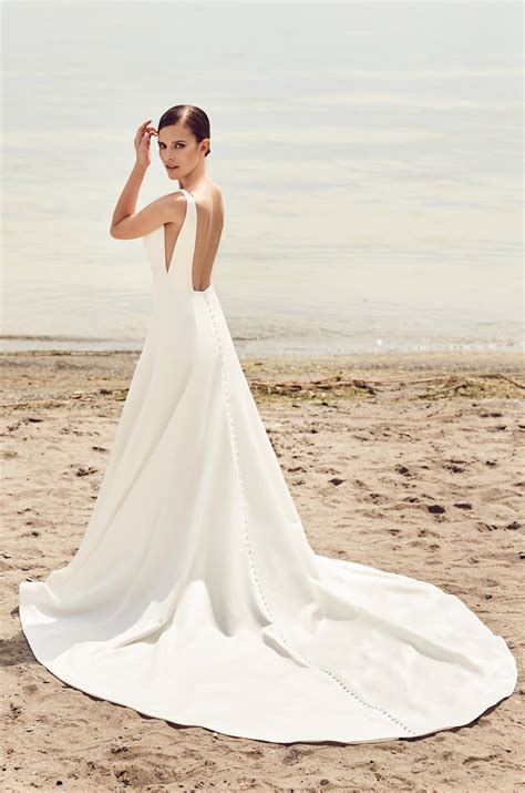 Shop Wedding Dresses By Style by Sleek Modern Wedding Dress Style 2115 Mikaella Bridal
