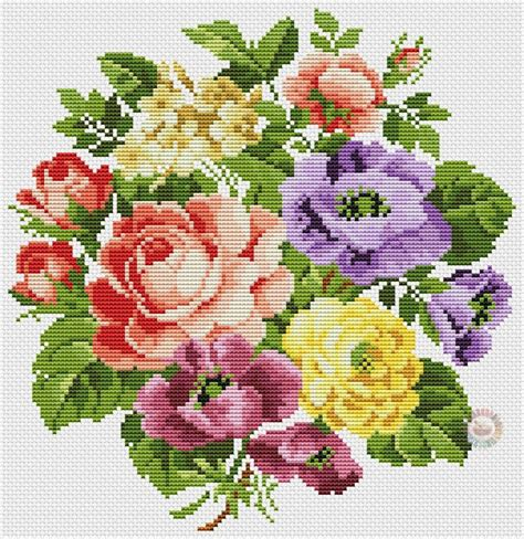 imagenes flores en punto de cruz ideas de flores bonitas en punto de cruz