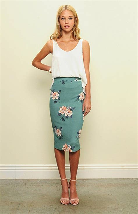a full length printed skirt gets a touch of luxe via a 25 best ideas about high waisted skirt on pinterest