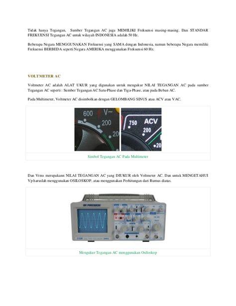 Berapakah Multimeter modul cara menggunakan volt meter ac