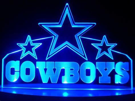 nfl dallas cowboys led desk l light bar