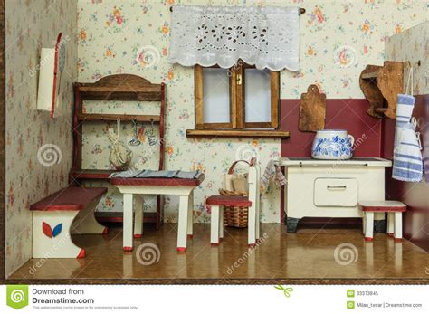 retro homes vintage doll house stock image image of hobby model