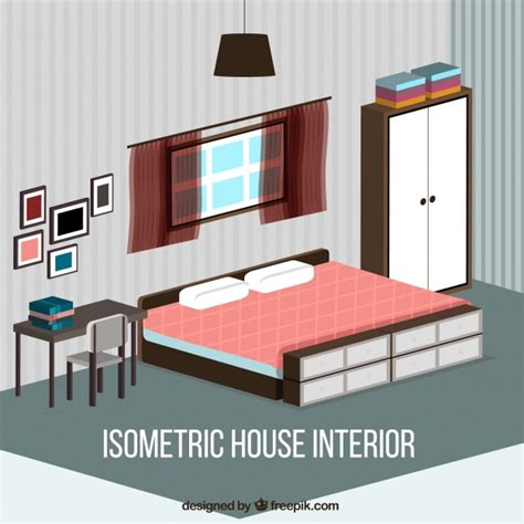 bedroom design vector isometric bedroom vector free download
