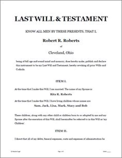 joint will and testament template write your own last will and testament infos my last