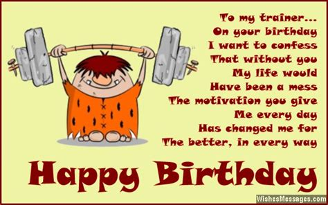 Birthday Card For Personal Trainer Birthday Wishes For Trainers Messages For Personal