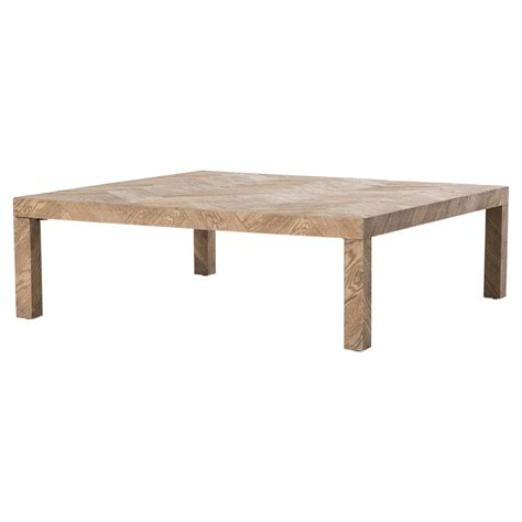 Ingmar Rustic Lodge Parson Herringbone Square Coffee Table Rustic Square Coffee Tables
