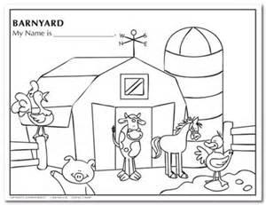 Barnyard Animals Coloring Sheets Barnyard Coloring Pages