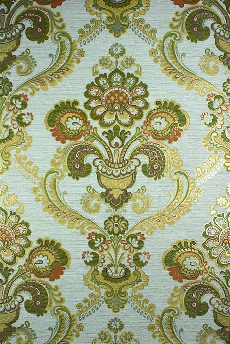 green  gold damask wallpaper gallery