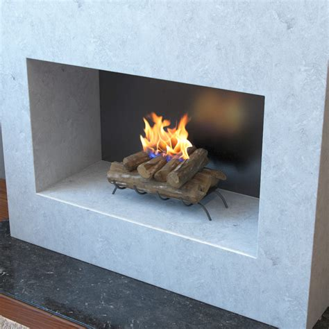 18 inch convert to ethanol fireplace log set with burner