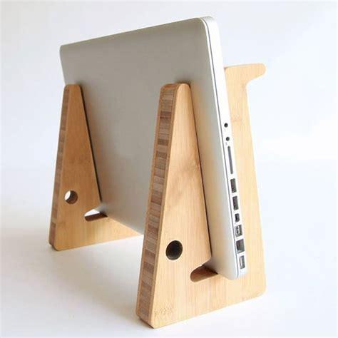 laptop holder for desk wood adjustable desk table mount holder stand for tablet