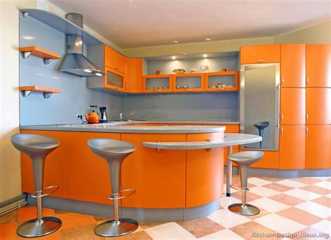 Orange Kitchen Pictures Of Kitchens Modern Orange Kitchens Kitchen 7