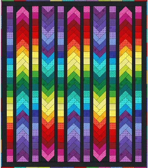 rainbow zig zag quilt pattern 145 best images about zigzag rainbow quilts on pinterest