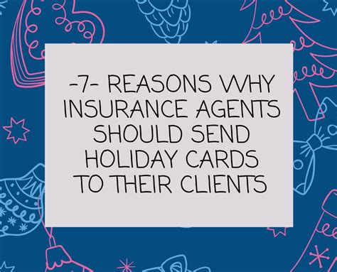 7 Reasons To Be Happy The Holidays Are by 7 Reasons Why Insurance Agents Should Send Cards