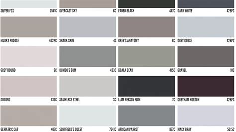shades of gray names interesting 60 shades of grey color design inspiration of
