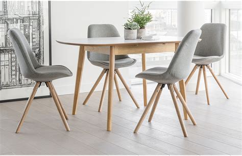 4 Seater Dining Table And Chairs 4 Seat Dining Set Grey Chairs Extendable Table Home Furniture Out A