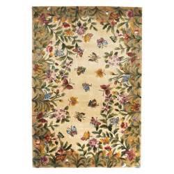 butterfly rugs kas rugs emerald 9019 butterfly garden area rug antique