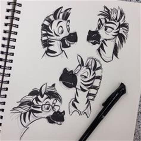 cartoon tattoo julien marty the zebra splits on all fours in madagascar movie
