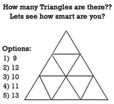 how many triangles are there in this diagram how many squares brain teaser math