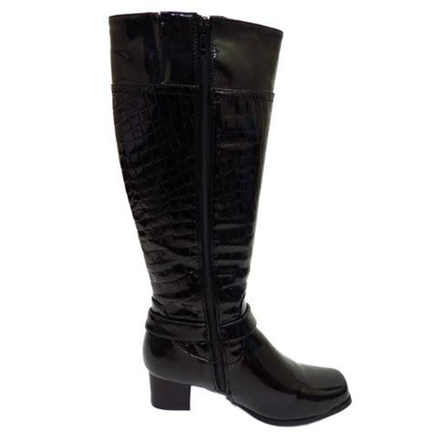 black knee high boots low heel black knee high zip up low heel winter