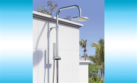 outdoor shower stainless steel outdoor shower co stainless steel showers 2015 06 23