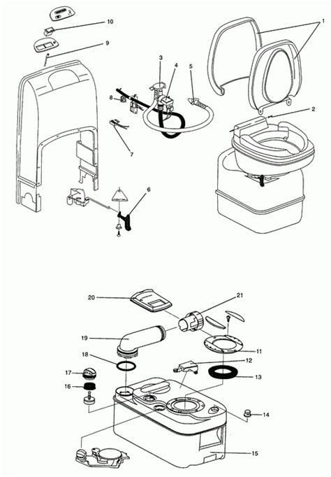 Thetford Toilet Exploded View by Thetford Rv Toilet Diagram Wiring Imageresizertool