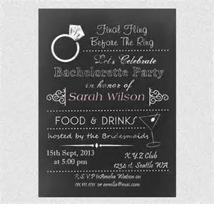 printable chalkboard bachelorette gilrs out save the date