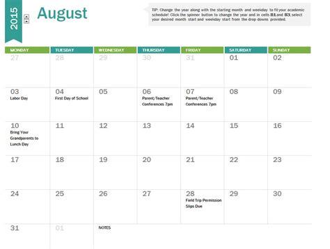 2014 2015 academic calendar template 2014 2015 academic calendar template