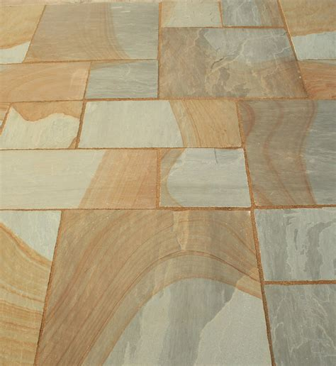 cheap patio packs indian sandstone paving slabs two tone patio pack calibrated cheap paving at lsd co uk