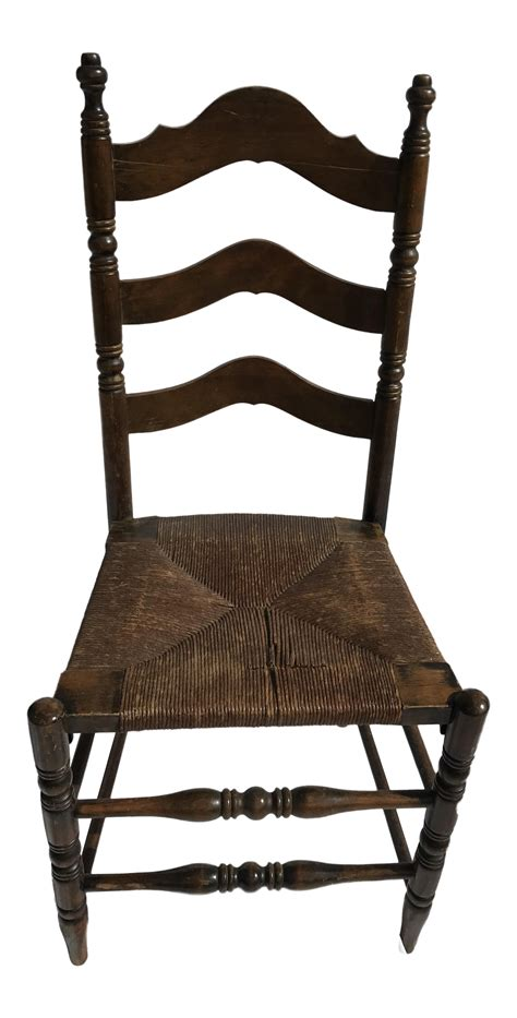 Ladder Back Seat Chairs - antique ladder back seat chair chairish