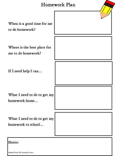 homework organization and planning skills homework planner idea teaching pinterest homework