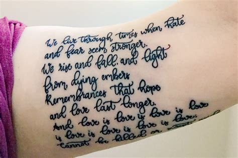 queer tattoo lyrics love is love is love the meaning behind my quote tattoo