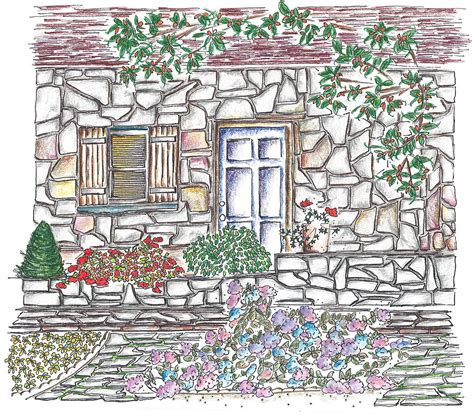 Drawings Of Country Cottages