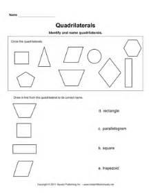 quadrilaterals instant worksheets