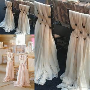 diy chair sashes 2017 custom made pink chiffon diy wedding chair covers and