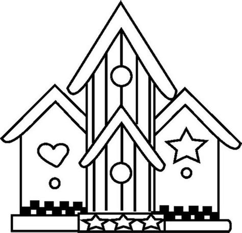 free coloring pages of bird houses bird houses colouring pages