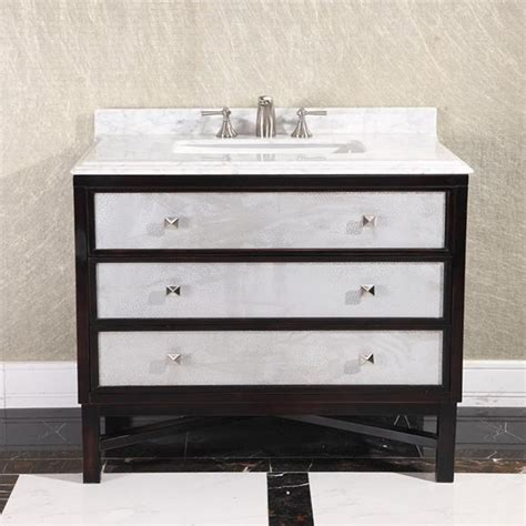 Marble Top Bathroom Vanity by Modern White Marble Top 36 Inch Single Sink Brown Bathroom Vanity