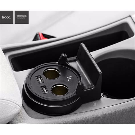 hoco uc207 multifunction car charger with 2 usb ports