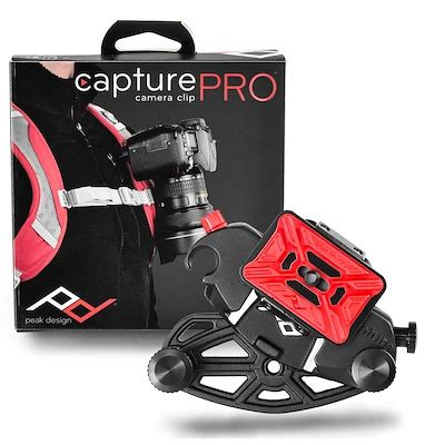 qoo10 peak design capture pro clip with pro plate attach to belt or tv
