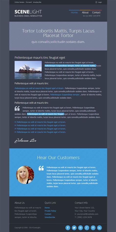 responsive email template builder scenlight responsive email template with builder by