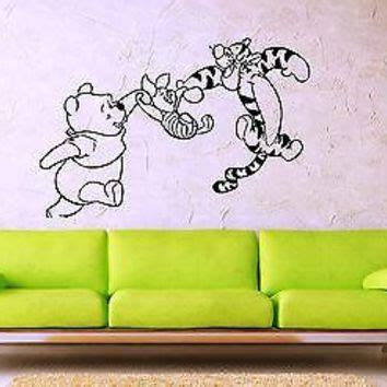 Wall Sticker Wall Stiker Wallsticker Dinding 152 Pooh Family compass wall decal vinyl sticker from fabwalldecals on etsy